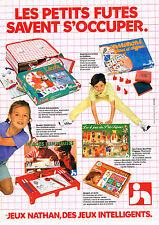 PUBLICITE ADVERTISING 114  1981  NATHAN  jeux jouets