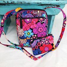 Vera Bradley Mini Hipster Crossbody Floral Fiesta Colorful Flowers w/Zip ID NWOT