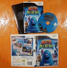 MOSTRI CONTRO ALIENI - Nintendo Wii, Wii U - Italiano 1ª Ed COMPLETO - FO