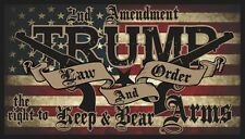 TRUMP LAW & ORDER 2nd AMENDMENT GUNS AMERICAN FLAG 2020 DECAL WINDOW BUMPER