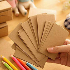Message Cards DIY Kraft Business Word Gift Card 100pcs paper Blank