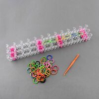Colourful Loom Band Kit ,1 LOOM,1 HOOK, APPROX 600 MIXED COLOUR BANDS + S-CLIPS