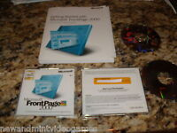 Microsoft Front Page 2000 Replacement Disks (PC) With Manual