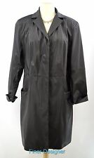 OUTBROOK WOMENs TRENCH COAT RAINCOAT DUSTER TRENCH knee JACKET Black SIZE M NEW