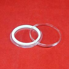 100 AirTite Coin Holder Capsules with White Ring for 1 oz Silver Round I39mm