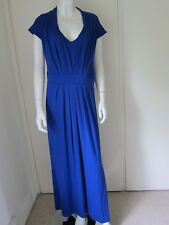 Evans Royal Blue Jersey Long Length Shift Dress Plus Size 20 RRP £40