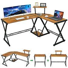 Greenforest L Shaped Desk 58 Reversible Corner Computer Desk With Movable Sh