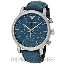 Reloj Deportivo * Nuevo * De Hombre Emporio Armani Azul Chrono Luigi-AR1969-RRP £ 225.00