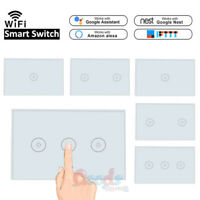 1/2PCS 1/2/3 Gang Smart Home WiFi Touch Wall Light Switch Panel For Alexa Google