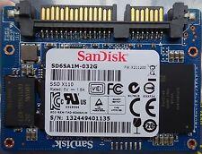 SanDisk SD6SA1M-032G 32GB SSD X110 Media Slim MO-297 SATA SATA 3 6 Gbps