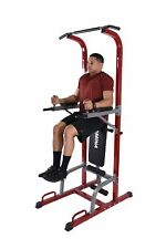 Full Body Power Tower and Weight Bench Home Exercise Strength Training Pull Up..
