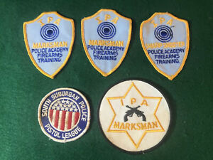 IPA Marksman Police Patch Embroidered vintage Illinois South Subs Pistol Lot 5