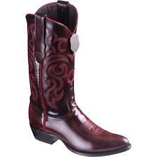 Men's Los Altos Cherry Camaleon Genuine Leather Round Toe Cowboy Western Boot D