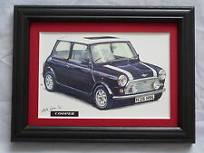 Mini Cooper RSP Commemorative Stunning Framed & Mounted Postcard **Offers** #2