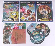 3 Spitzen KINDER Spiele für Playstation 2 z.B. SPONGEBOB; TAK; WALLACE GROMIT