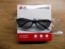 GENUINE LG AG-F310  3D GLASSES ~ 4 Pack ~ 4 pairs of Glasses New ~ NEW IN BOX