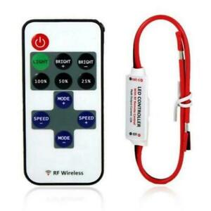 12V Switch Controller Dimmer Mini Led Strip Lamps Light Rf Wireless Remote Set