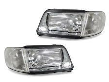 DEPO 92-94 Audi 100 C4 Replacement Headlights + Corner Lights Set Left + Right