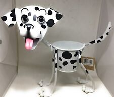 Georgetown Mini Dalmation Planter Outdoor Dog Flowers Plants Metal Stand Alone