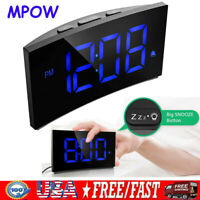 "MPOW 5"" USB Bedside Alarm Clock 3 Alarm Sound Digital LED Dimmable Snooze"