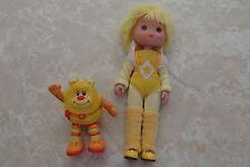 Vintage Rainbow Brite Canary Yellow Doll Light Up Sprite Hallmark Cards 1983 Lot