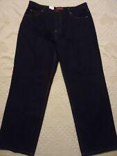 "NWT Womens 18R Cottage Street Dark Wash Black Denim Jeans Ins 30"""