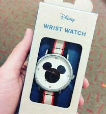 Disney - Junk Food Mickey Mouse Icon Watch Striped Canvas Strap New