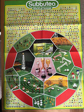 Subbuteo World Of Soccer Poster Teams - Great Condition - See Other Items