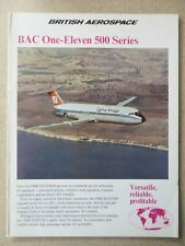 DEPLIANT PUB BRITISH AEROSPACE BAC ONE-ELEVEN 500 SERIES AIRLINER FREIGHTER