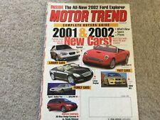2001 Hummer H2, Nissan Frontier, Honda Odyssey, Dodge Caravan Magazine