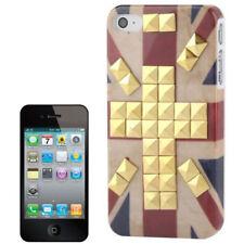 HardCase für Apple iPhone 4 / 4S Retro Flagge England mit goldfarbenen Nieten