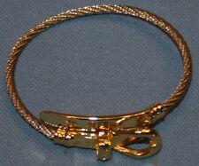 Bracelet Silver Tone Braid Gold Tone Buckle Belt Style Jewelry Womens Rhinestone