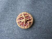 OOAK Handmade Miniature Food Pie on a pewter? tray