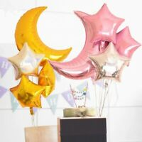 4pc/Set Moon Star Wedding Foil Balloons Helium Birthday Party Balloon Decoration