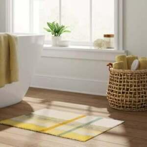 Threshold Plaid Cotton Bath Rug (17in x 24in) - Yellow/Green