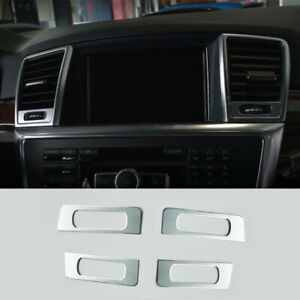 For Mercedes-Benz ML GL Class X166 13-16 Alloy Air-Condition Adjust Cover Trim