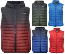 New Mens Crosshatch Padded Quilted Lined Bodywarmer Gilet Jacket Bubble S-3XL