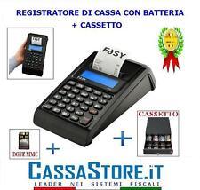 REGISTRATORE DI CASSA PER AMBULANTI CUSTOM FASY MIA BATTERIA LITIOeCASSETTO