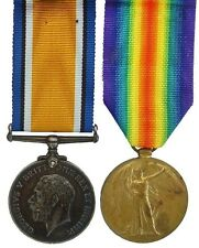 WW1 BRITISH WAR & VICTORY MEDAL PAIR 114463.PTE.G.W.LEWIS.R.A.M.C