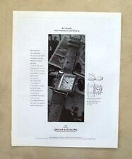 E770- Advertising Pubblicità -1995- JAEGER LE COULTRE OROLOGIO REVERSO