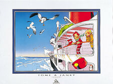 Affiche, Spirou et Fantasio : Bateau  60 x 80 cm