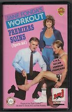 VHS RARE - JANE FONDA'S WORKOUT :  PREMIERS SOINS