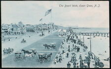 OCEAN GROVE NJ Boardwalk Horse & Buggy Antique Postcard