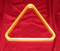 "WOODEN POOL TABLE BALL TRIANGLE RACK FOR 2 1/4"" AMERICAN STYLE  57mm POOL BALLS."