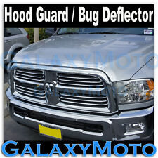 10-16 Dodge Ram Heavy Duty Chrome Front Hood Shield Grille Guard Bug Deflector