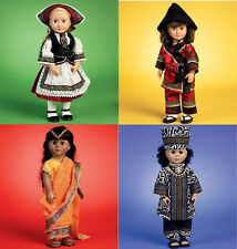 SALE! SEWING PATTERN! MAKE INDIA~UKRAINE~AFRICA DOLL CLOTHES! FITS AMERICAN GIRL