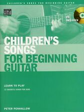 Childrens Songs For Beginning Guitar Learn to Play TAB Music Book & CD