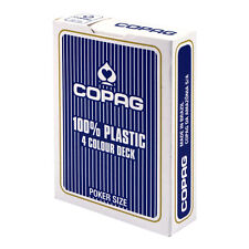 4 COLOUR COPAG 100% Plastic PLAYING CARDS single deck