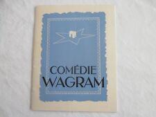 """Programme comédie Wagram """" 13 à table """", Paris (75) circa 1950"""