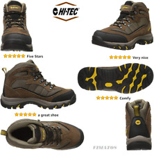 Hi-Tec Men's Skamania Waterproof Leather/Nylon Hiking Boot, Brown/Gold,10 M US